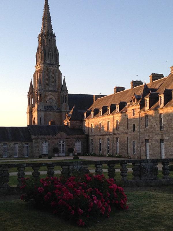 Coucher de soleil - Château de Quintin