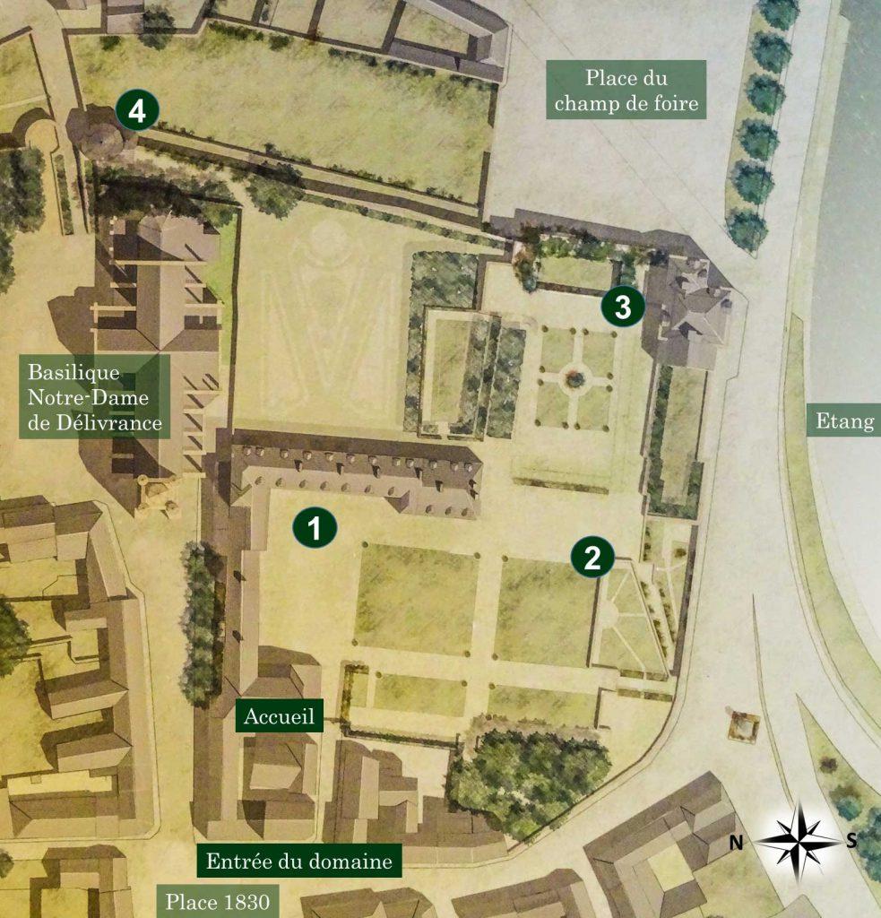 Plan du domaine Château de Quintin